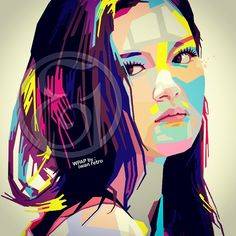 #late_post #vector #vectors #pop_art #portrait #human #face #girl #model #Indonesia #Indonesian #Wedha #WPAP #digital #digital_art #artwork  #graphic #design #graphic_design