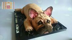 French Bulldog  - Cake by Kokoro Cakes