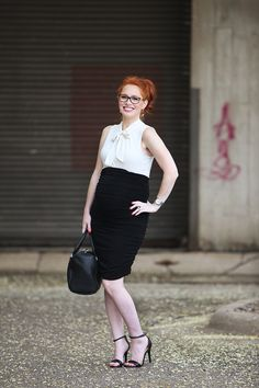 Pregnancy Week 29, Pregnancy Style, Business professional, maternity, pencil skirt