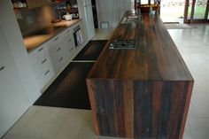 kennedys recycled timber features, would look great in the bathroom DJ