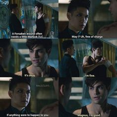 Season 1 Episode 9: Alec and Magnus