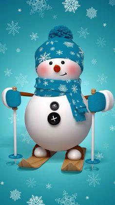 the snowman: skiing snowman Christmas greeting card Stock Photo Merry Christmas, Christmas Clipart, Christmas Greeting Cards, Christmas Snowman, Christmas Greetings, All Things Christmas, Christmas Time, Christmas Crafts, Snowman Wallpaper