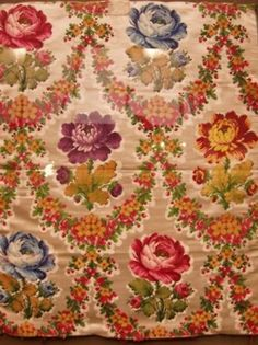 Samples of textiles from Marie Antoinette's various apartments
