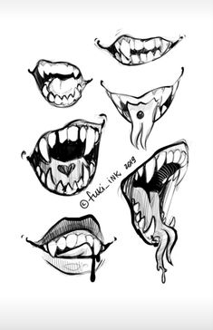 Dark Art Drawings, Art Drawings Sketches Simple, Drawings Of Mouths, Teeth Drawing, Smile Drawing, Drawing Reference Poses, Drawing Poses, Arte Copic, Drawing Face Expressions