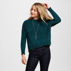 Women's Pullover Sweaters - Merona Green Xxl