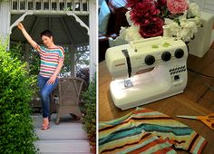 Made by Me Monday – How to Draft and Sew a Dolman Sleeve Tee {tutorial}