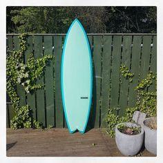Custom Quad Fish for Ben. #visionary #custommade #fish #surfboards #resintint #madetoorder #madeinengland #fcsii http://ift.tt/19MEsb6
