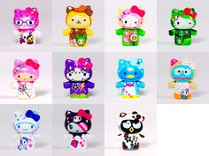 Tokidoki x Sanrio Characters Holiday 2013 Collection collectible figures