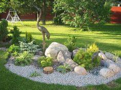 15 awesome front yard rock garden landscaping ideas #landscapefrontyardflowers