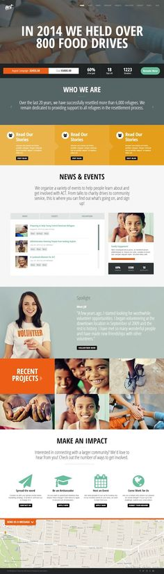 Act Multipurpose Nonprofit #Charity WordPress Theme 2015 #webdesign