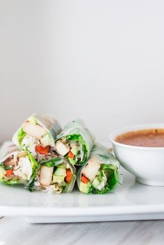 Thai Fresh Spring Rolls with Peanut Dipping Sauce and a Giveaway