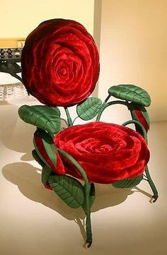 The Rose Chair...what a conversation piece this would be and although I would never put such a chair in my home. My mother would have loved this chair. So I imagine depending on your taste this chair either could work for you or it would not at all.