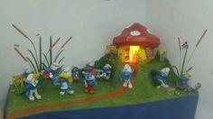 Pitufilandia casi completado en Museo Papercraft #Museo #Papercraft #arte #papel #3D #olivenza #Badajoz