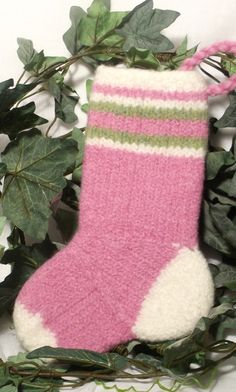 sweet christmas stocking pattern for babys first christmas simple pattern with no heel to turn