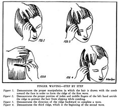 Finger wave step by step right from the milady cosmetology student marcel waves and finger waves hairstyles of the 1920s fandeluxe Images