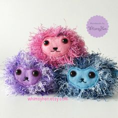 Pygmy Puff - Harry Potter Inspired Plush Toy - Ginny Weasley Hogwarts Pet - Christmas Gift Potter Lover Fan - Amigurumi Crochet Softie by WhimsyHen