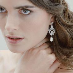 Hayworth pearl earrings by Stephanie Browne