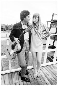 Two fine Canadians. Joni Mitchell and Leonard Cohen