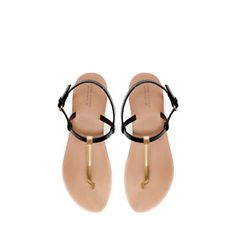 STRAPPY THONG SANDAL - Shoes - Woman | ZARA Greece