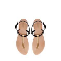 STRAPPY THONG SANDAL - Shoes - Woman | ZARA Greece