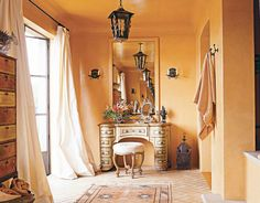 The perfect orange paint color! Soft Marigold, by Benjamin Moore.