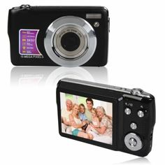 4X Digital Zoom  Camera Black  This camera comes with a 2.7 inch TFT LCD display, CMOS Sensor, 4x digital zoom, superb performance in a compact, elegant and stylish body.