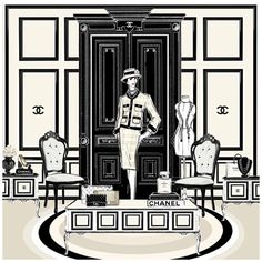 """Megan Hess """"The Coco Chanel Room"""", $180.00 by The Leaf Series presented by Frankie and Swiss"""