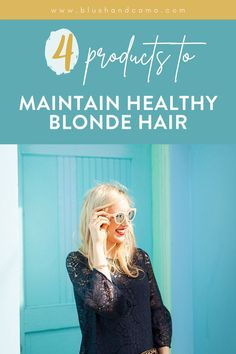 I recently went blonde and while I love my blonde hair, my hair wasn't loving it! I had some damage on the ends of my hair and it was in need of some serious hydration! Sound familiar? I did a little research and talked to my hair stylist and now I'm going to share with you what I found! Here are the 4 products I use to keep my blonde hair healthy and happy! #blondehair #healthyhair #beautytips #hairtips