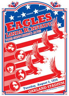 EAGLES & Linda Ronstadt 3 August 1976 Oakland by tarlotoys, €10.00