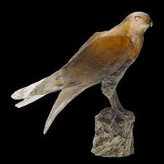 Daum Crystal Saker Hawk Knoop. Biggs Ltd. Gallery 1-800-362-0677. Price $16,210.