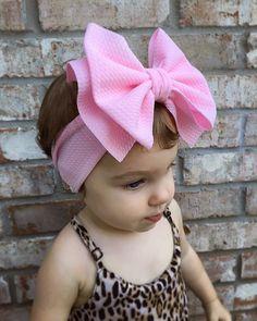Your place to buy and sell all things handmade Baby Headband Tutorial, Tie Headband, Fabric Flower Headbands, Baby Girl Headbands, Baby Girl Hair Accessories, Custom Bows, Big Bows, Head Wraps, Diy Fashion