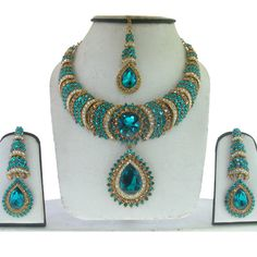 Shop for traditional Indian and Mughal Jewelery India Jewelry, Jewelry Box, Jewelery, Women Jewelry, Necklace Set, Beaded Necklace, All That Glitters, Turquoise Color, Burlesque