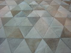 Monserrat White, Beige, Gray Cowhide Patchwork Rug - Made to Order - LIFESTYLE by Cara