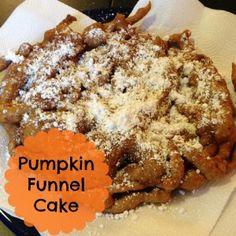 Pumpkin Funnel Cake