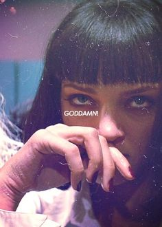 Uma Thurman as Mia Wallace in Pulp Fiction Mia Wallace, Movies Showing, Movies And Tv Shows, Bad Trip, Foto Poster, Film Serie, Quentin Tarantino, Movie Quotes, Oeuvre D'art