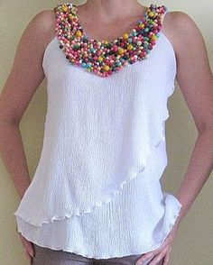 New Crochet Patrones Sueter Ideas Sewing Clothes, Diy Clothes, Clothes For Women, Diy Fashion, Fashion Dresses, Womens Fashion, Blouse Styles, Blouse Designs, Dress Patterns