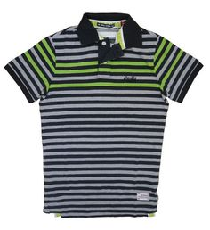 Superdry Mens Infill Stripe Polo - Coal Mix – £39.95 with free p&p at www.moyheelandtraders.com Great spring polo, wear with chino's or jeans now and with shorts in summer.