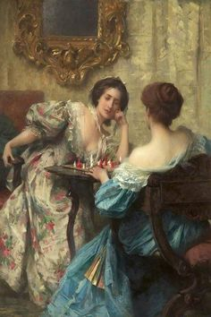 """""""The Chess Players"""" → Samuel Melton Fisher."""