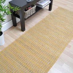 Ranger Hallway Runners in Mustard - Free UK Delivery - The Rug Seller