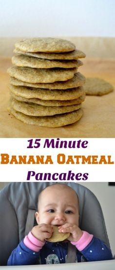 This 15 Minute Banana Oatmeal Pancakes recipe is perfect if you are looking for healthy breakfast options. No refined sugars, only 4 ingredients. This 15 Minute Banana Oatmeal Pancakes is very eas…