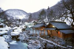 Takaragawa Onsen in winter, Minakami City in Gunma Prefecture