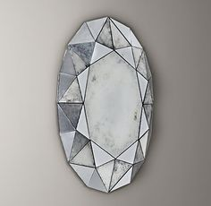 Faceted edges give our oval mirror the look of a precious gemstone – and make it an ideal frame for the fairest of all.