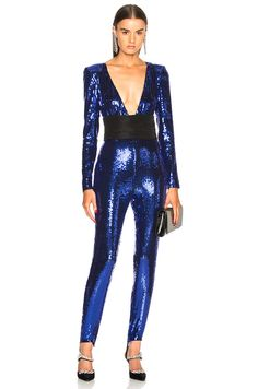 16795c81e5b Dundas Cummerbund Jumpsuit in Electric Blue