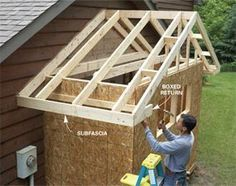 How to... enlarge garage. Like we need this now on our 3 car garage. LOL... Good to know.