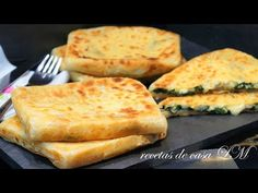 GÖZLEME RECETA FÁCIL Y BUENISIMA - YouTube Veggie Recipes, Cooking Recipes, Healthy Recipes, Comida Armenia, Gozleme, Turkish Recipes, Ethnic Recipes, Empanadas, Creative Food