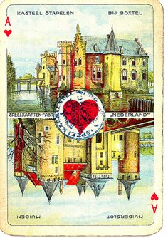 Dutch playing cards from 1920-1927: Ace of Hearts