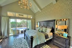 Bedroom Wallpaper with Trellis Pattern, 2012 Parade of Homes Moon Painting, Paper Moon, Trellis Pattern, Wallpaper Gallery, Bedroom Wallpaper, Parade Of Homes, Interior Design, Projects, Inspiration