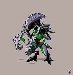 Xenomorph Roster: Mantis Alien by inkjava