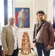 Marius Tita and myself at the 2015 Annual Religious Art Exhibition, Village Museum, Bucharest