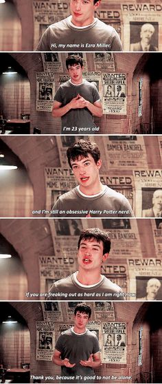 Ezra Miller is just like us. And that is why we love him and hope that a piece of the Obscurial survived.